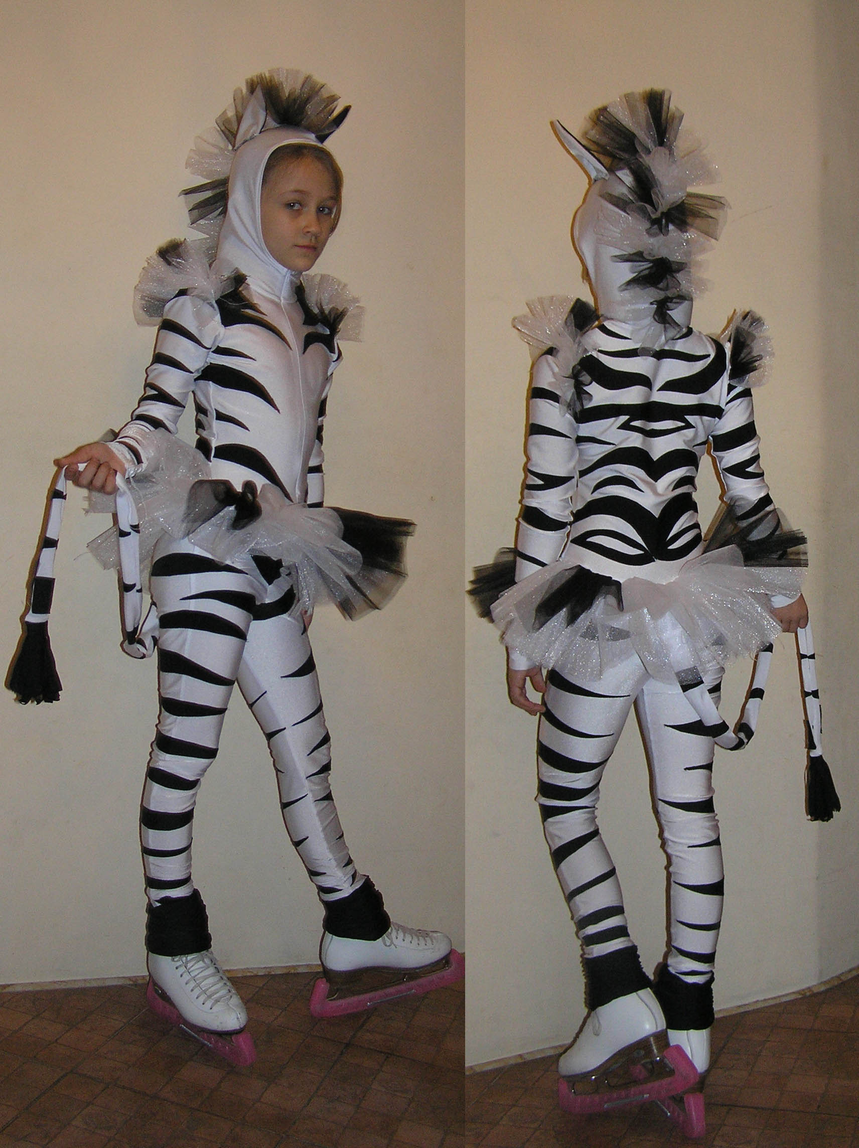 Костюм зебра своими руками